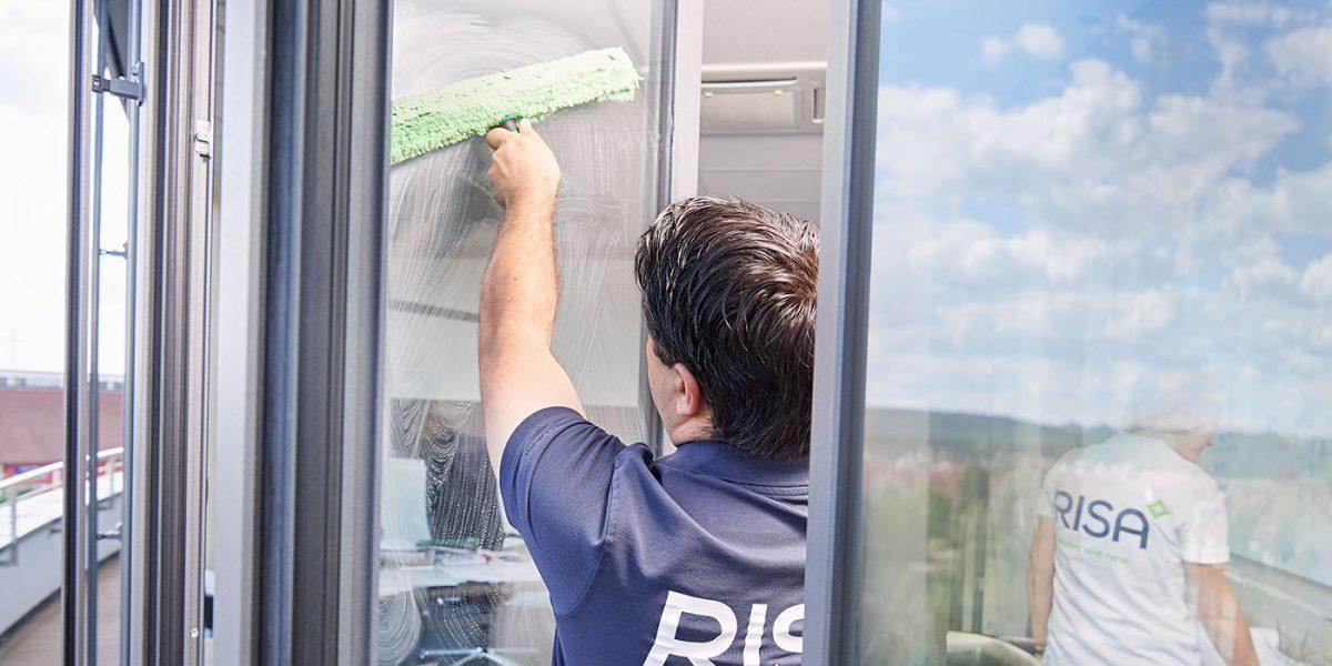 Fensterreinigung Detail